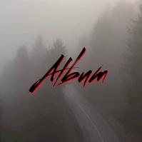 Creepy Fog scary album cover video template