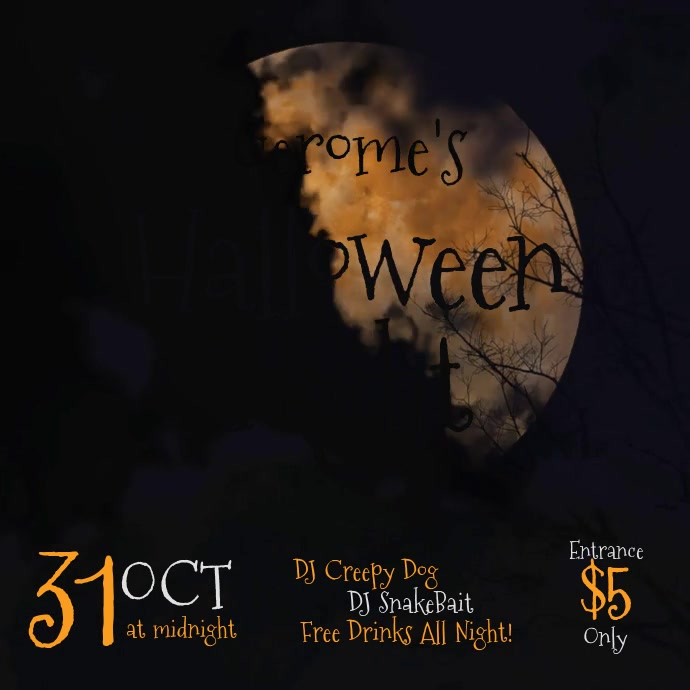 Creepy Moon Halloween Template