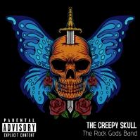 Creepy Skull Album Cover Capa de álbum template