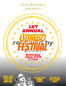 Creole Gumbo Festival Event Flyer Template