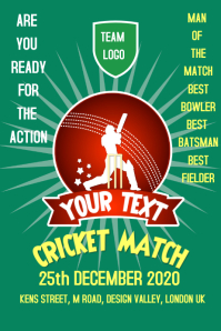 70 Customizable Design Templates For Cricket Postermywall
