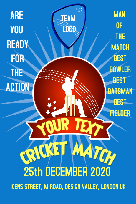 Cricket, event, flyer, poster