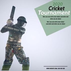 cricket AD DIGITAL VIDEO SOCIAL MEDIA Instagram Post template