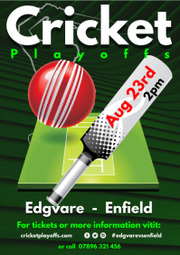 Cricket Club Schedule Poster