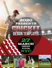 CRICKET DAY EVENT FLYER TEMPLATE