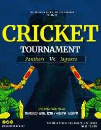 Cricket Flyer (US Letter) template