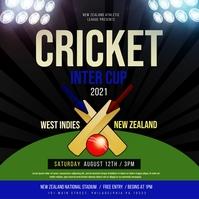 Cricket Pos Instagram template