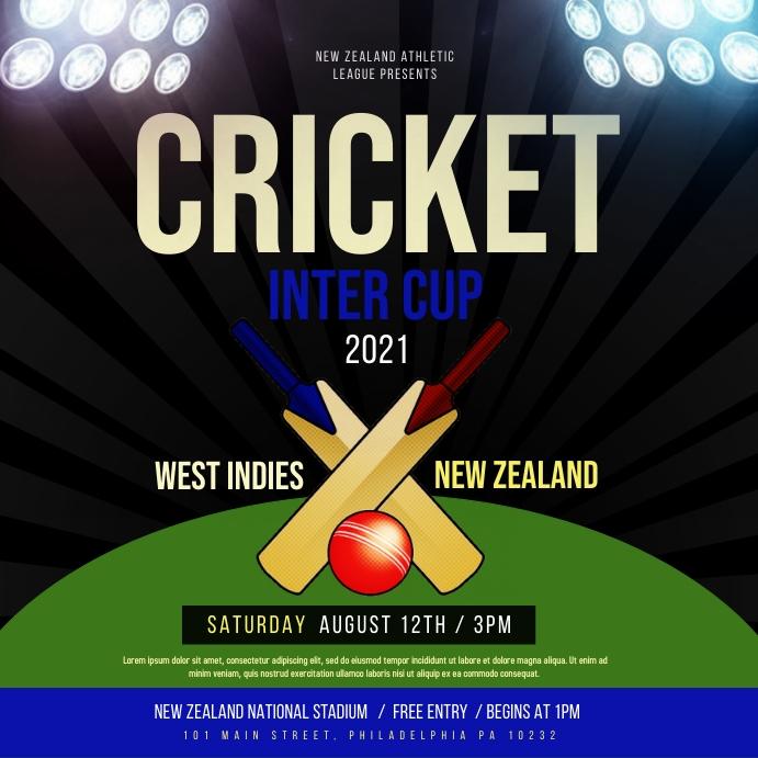 Cricket Post Instagram template