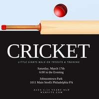 Cricket Instagram Post template