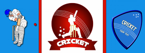 Cricket Facebook Social Media Green Background design