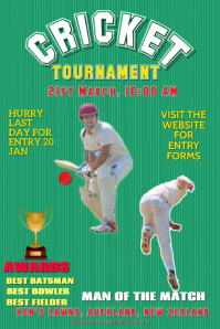 Cricket Flyer Poster for tournaments template