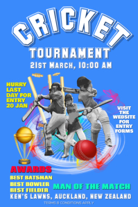 Cricket Flyer Poster for tournaments
