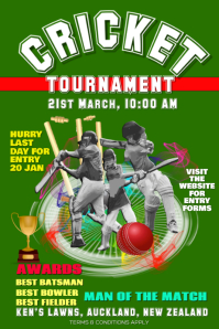 Cricket Flyer Poster for tournaments event