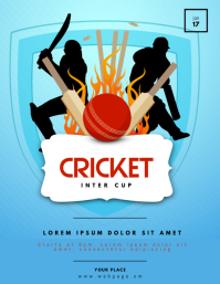 Cricket Flyer Template Løbeseddel (US Letter)