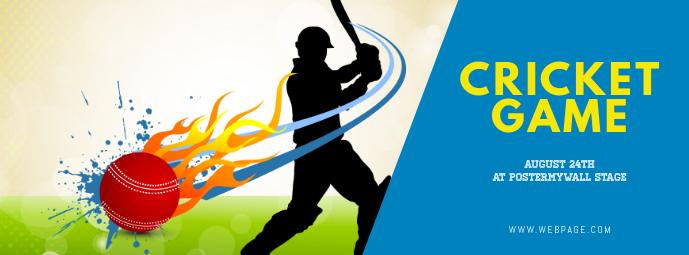 Cricket game facebook cover template