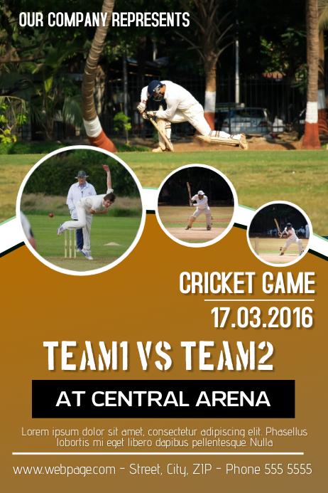 Customize Cricket Templates Postermywall