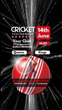 Cricket Game Poster