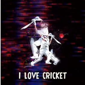 Cricket Glitch Effect Square social media template