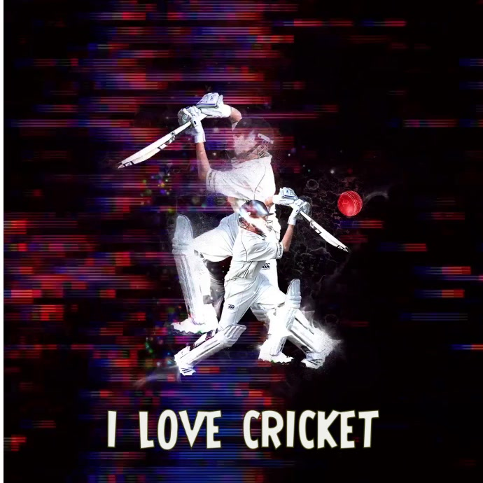 Cricket Glitch Effect Square social media