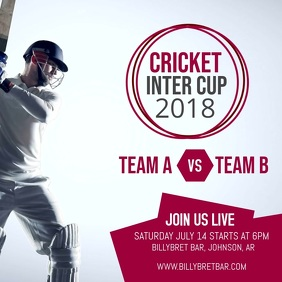 Cricket Match Instagram Video Post Template