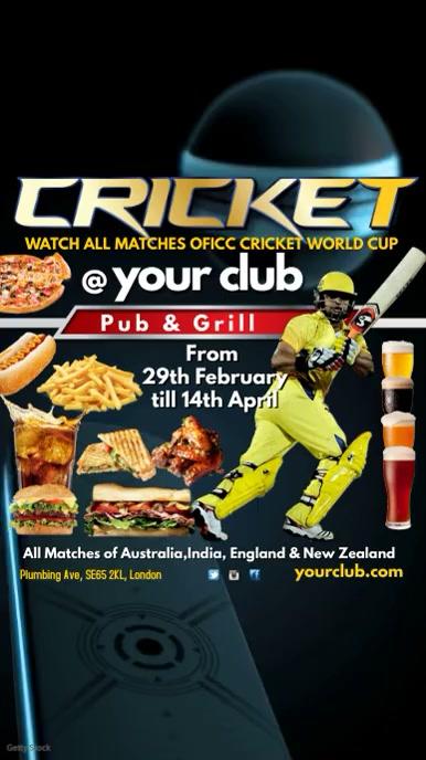 Cricket Match Video Post