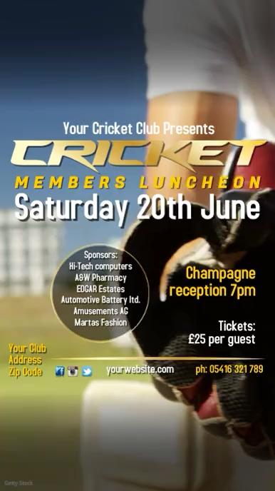 Cricket Members Luncheon