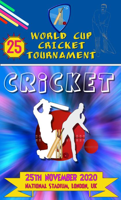 Cricket Poster VSA Wetlik template