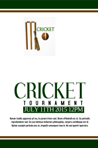Cricket Plakat template