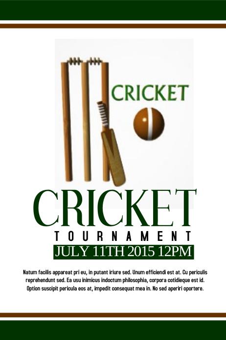 Cricket Tournament Anouncment Wording: Cricket Template