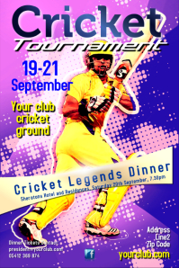 Cricket Poster Template
