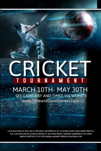 customizable design templates for cricket sports postermywall