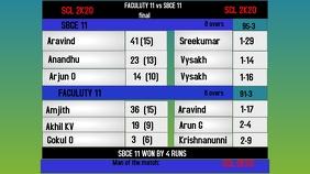cricket scorecard Digital Display (16:9) template