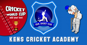 Cricket Social Media Header, flyer