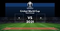 Cricket Team Lineups Board 2021 Template Facebook Shared Image
