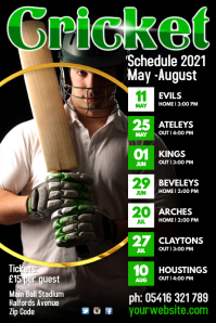 Cricket Team Schedule