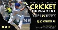 Cricket Tournament Banner Facebook Shared Image template