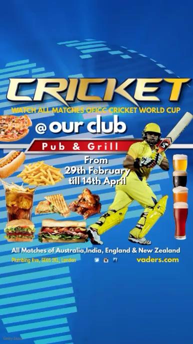 Cricket Tournament Instagram Template