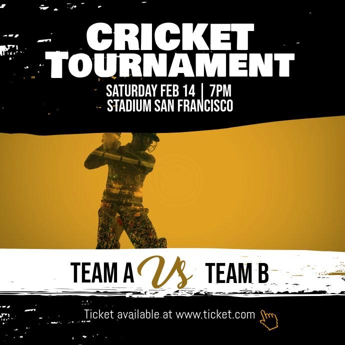 Cricket Tournament Instagram Post