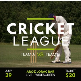Cricket Tournament Instagram Video Ad Template