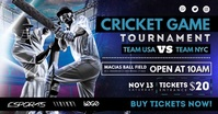 Cricket Tournament Poster Design Imagem partilhada do Facebook template