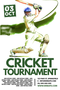 Cricket Tournament Poster template