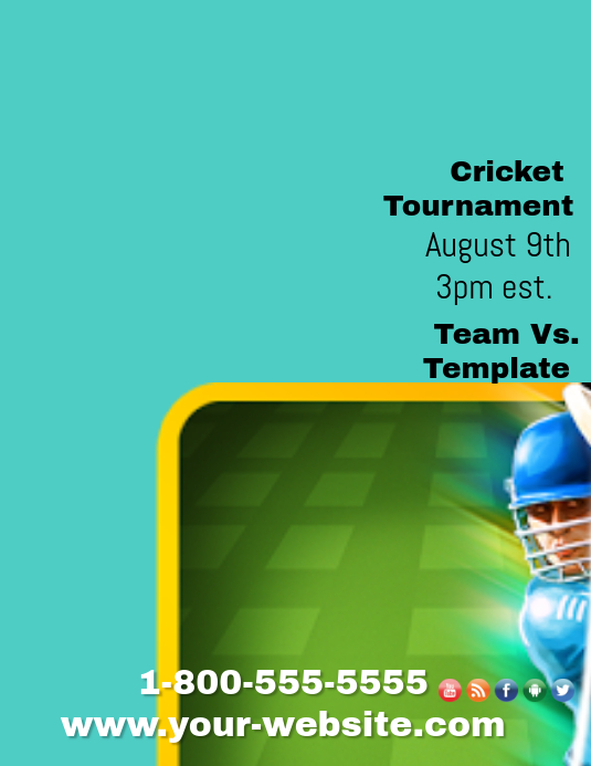 Invitation For Corporate Cricket Tournament: Cricket Tournament Template