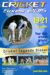 cricket tournament poster