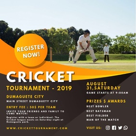 Cricket Try-outs Registration Online Ad