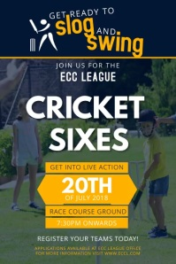 Cricket Try Outs Video Display Ad Template Poster