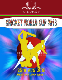 Cricket World Cup poster