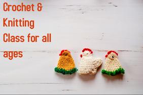 Crochet & Knitting Class Cartaz template