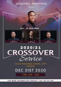 CROSS OVER SERVICE flyer A3 template
