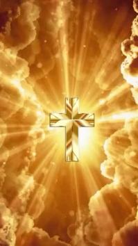 Crosses,worship video, church, prayer, onli Digital Display (9:16) template