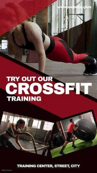 Crossfit fitness เรื่องราวบน Instagram template